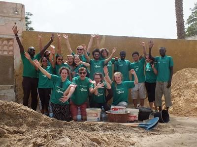A group of teens volunteering on a Projects Abroad High School Specials in Senegal