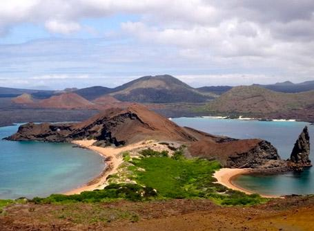 One of the views of the volcanic archipelago in the Galapagos
