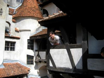 A Projects Abroad volunteer in one of the old buildings in Romania