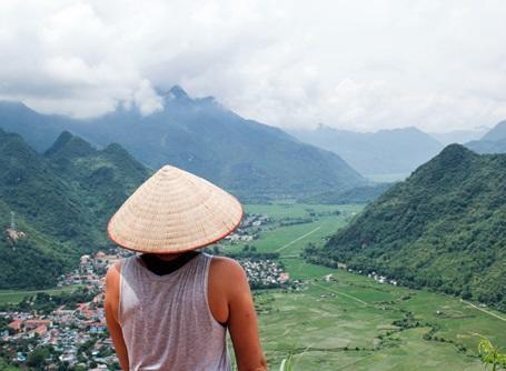 View of Vietnam landscape