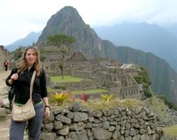A Volunteer at Machu Picchu in Peru